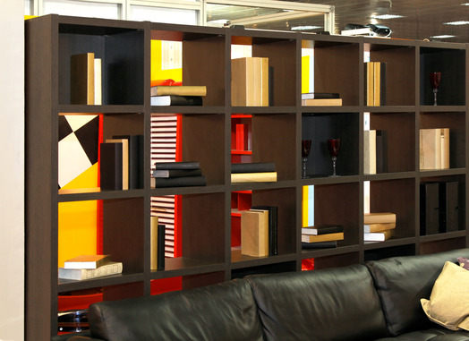Book shelf used as room divider