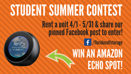 Win An Amazon Echo Spot This Summer With Personal Mini Storage!